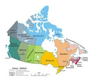 map de canada en francais liste de toutes les provinces du canada capitale
