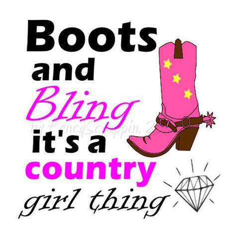 boots and bling boots and bling it s a country thing svg cutting