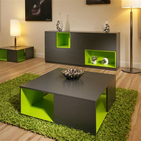 coffee side table tables black grey ash lime green modern matching 202 ebay