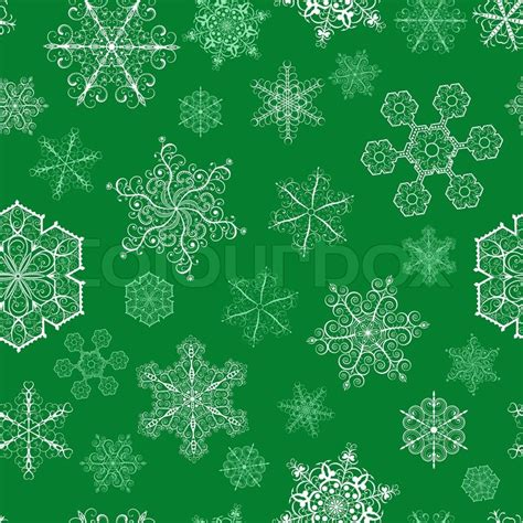 christmas pattern green christmas seamless pattern with big and small snowflakes