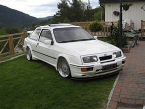 ford rs500 cosworth white immaculate low front