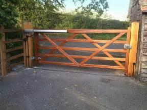 gate opener wooden automatic gates