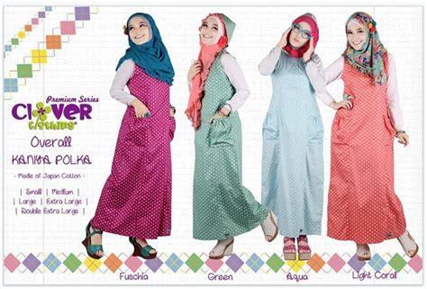 Overall Wilona Clover Clothingoverall Muslimgamis Muslim busana muslimah murah koleksi overall kaniya clover clothing