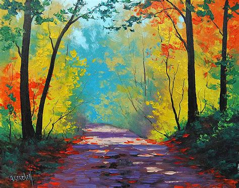 painting images autumn road painting by graham gercken