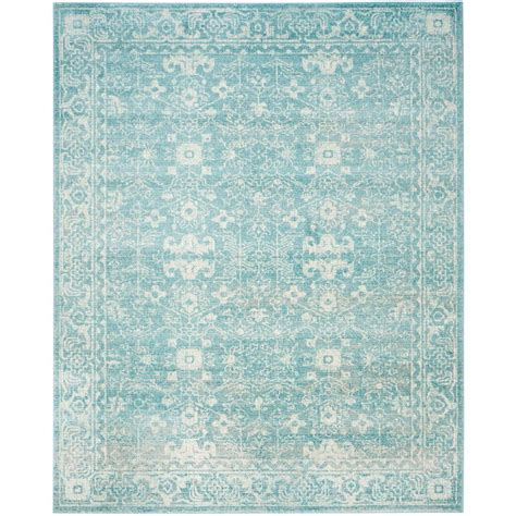 Safavieh Evoke Light Blue Ivory 8 Ft X 10 Ft Area Rug Blue Area Rug 8 X 10