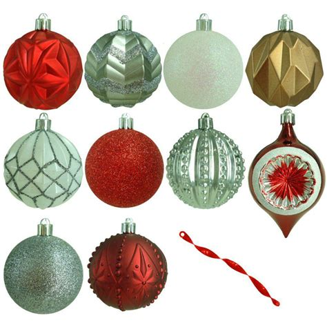 martha stewart white christmas ornaments martha stewart living 3 in winter tidings shatter resistant ornament 75 count he 1120 the