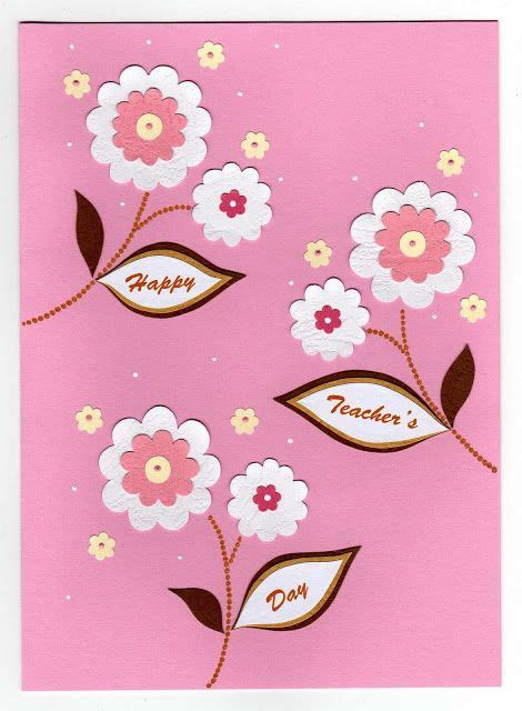 Handmade Cards For Teachers - handmade greetings card s day cards azlina