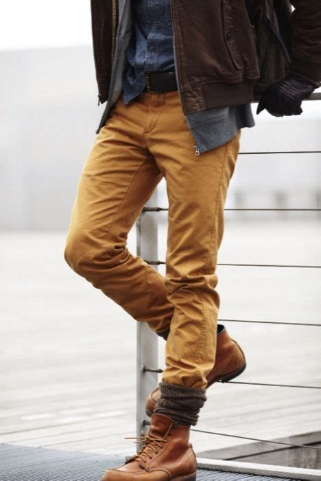 mens fashion tucked into boots tucked into bunched socks s stuff 2