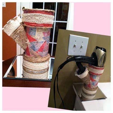 Hair Dryer And Straightener Holder Pvc holder for hair dryer and straightener pvc pipe