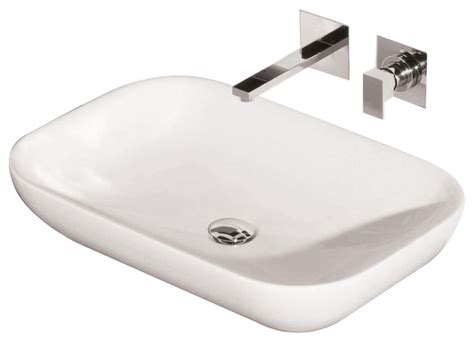 axa above counter basin 70 contemporary bathroom
