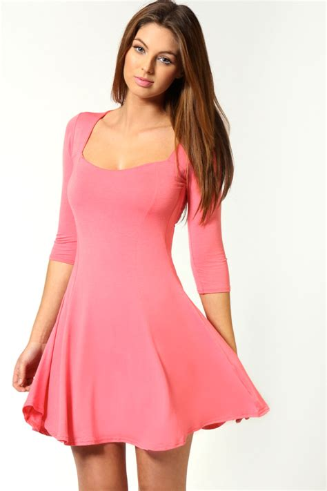 sleeve skater dress picture collection dressed up