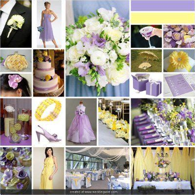 lavender and pale yellow for a sweet springtime wedding
