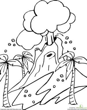 preschool nature coloring pages volcano coloring page places coloring pages and nature