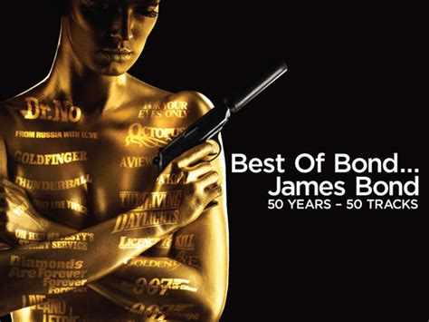 james bond themes by year best of bond james bond 50 years 50 tracks prize pack