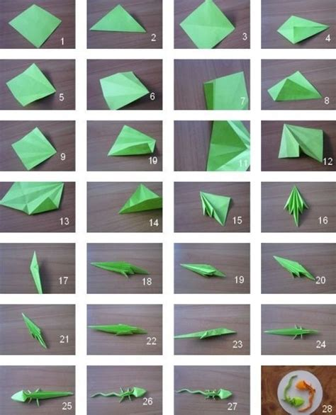 how to make a lizard out of origami lizard origami