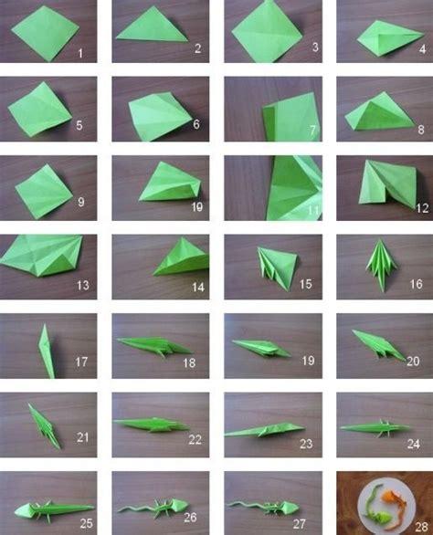 Origami Gecko - origami lizard origami
