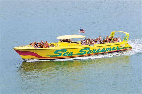 screamer boat sea screamer boat cruise in clearwater beach with
