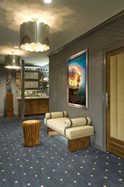 fairfield ct home theater lounge lobby transitional