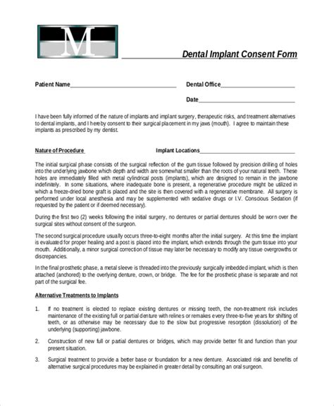 Sle Dental Consent Forms 10 Free Documents In Pdf Dental Informed Consent Form Template
