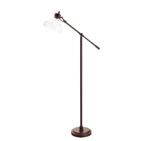 Hampton Bay LED 54.25 in. Oil Rubbed Bronze Counter Balance Floor Lamp 20045 002 The Home Depot