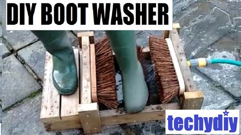 homemade boat cleaner how to make a diy boot cleaner washer scrubber youtube