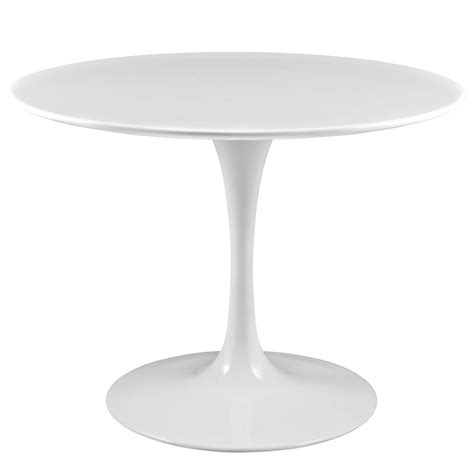 white table with wood top lippa modern 40 quot wood top dining table w lacquered