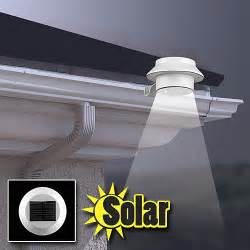 strong solar lights powerful solar led attaches to gutter light anywhere