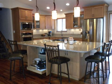 Side Kitchen by Kitchen Island With Seating On 2 Sides Wow
