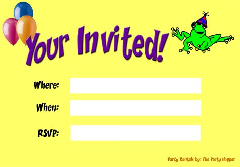 Backyard Birthday Party Invitations Blank Party Invitations Blank Party Invitations