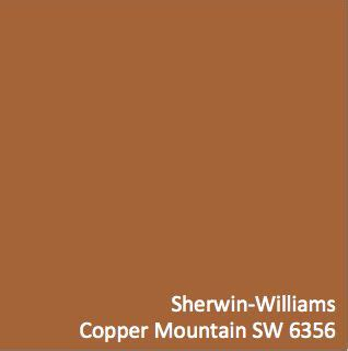 copper color paint sherwin williams copper mountain sw 6356 hgtv home by