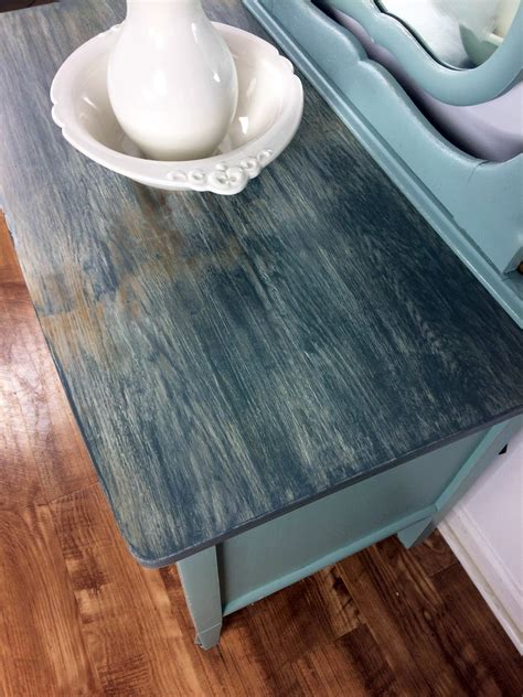 persian blue dresser  gray weathered top general