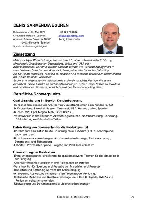Lebenslauf Zielsetzung Mehrsprachiger Wirtschaftsingenieur