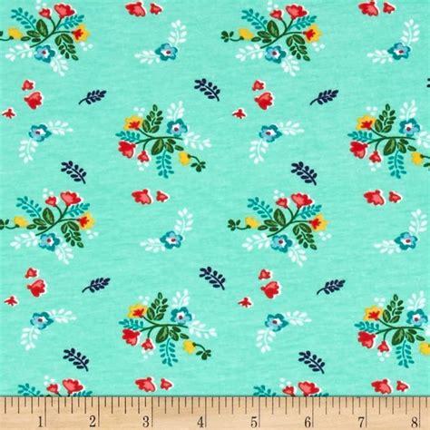 jersey knit fabric wholesale vintage market jersey knit floral mint it is