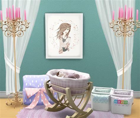 sims 4 cc baby funtioneri lana cc finds baby crib ts4 room sets nursery