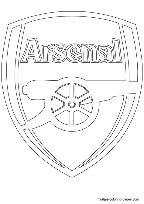 Arsenal Coloring Pages arsenal badge free colouring pages