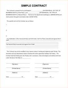 Simple Contractor Agreement Template by 4 Simple Contract Templatereport Template Document