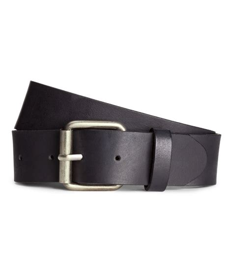 h m leather belt in black for lyst