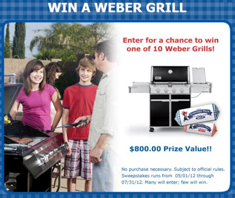 Weber Grill Sweepstakes 2016 - tennessee pride weber 174 grill sweepstakes win a weber grill worth 800 10 winners