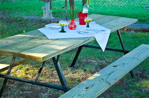 Large Picnic Table by How To Build An Large Diy Picnic Table Curbly