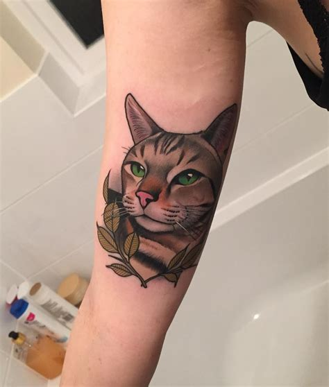 cat tattoo com portrait of my cat yeahtattoos com