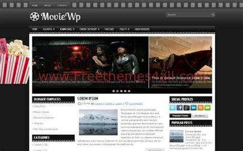 blogger movie themes dark black movies free blogger theme download