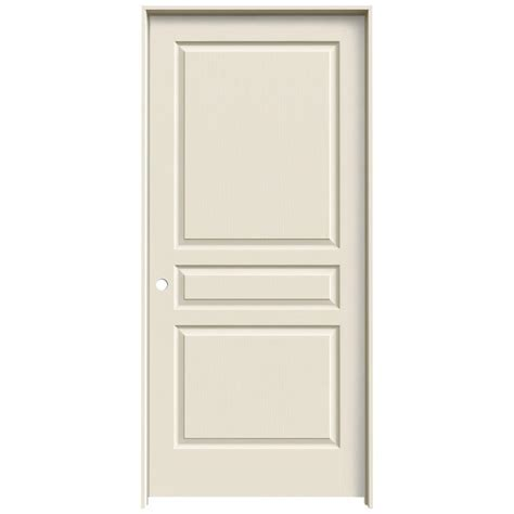3 Panel Doors Interior Jeld Wen 36 In X 80 In Molded Textured 3 Panel Square Primed White Hollow Composite