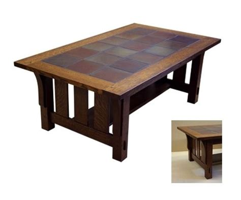 tile coffee table crafted tile top coffee table by rb woodworking