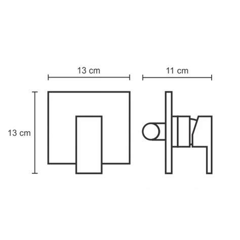Wall Shower Shower Tanam Shower Tembok Kotak Minimalis 10x10 Cm aer sanitary