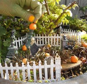 garden halloween decorations it s a miniature halloween garden facebook contest the