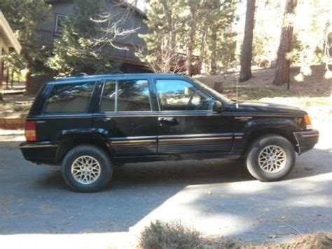 how to sell used cars 1994 jeep grand cherokee auto manual sell used 1994 jeep grand cherokee limited sport utility 4 door 4 0l no reserve in angels c