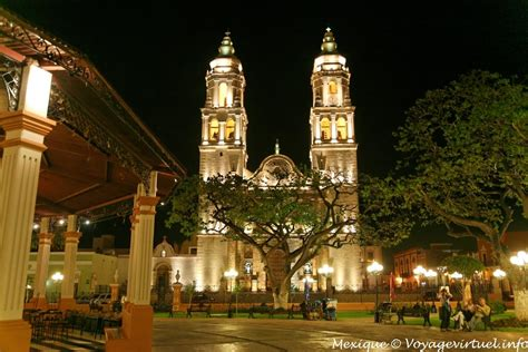 zocalo night cathedral view from the zocalo at night ceche mexico