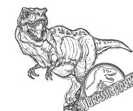 draw and color jurassic park printable coloring pages