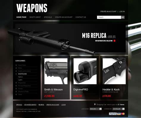 Gun Shop Oscommerce Template Web Design Templates Website Templates Download Gun Shop Gun Shop Website Template