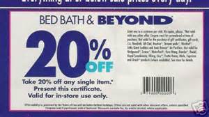 20 Coupon Bed Bath Beyond by Bed Bath And Beyond Printable Coupon Coupon Codes